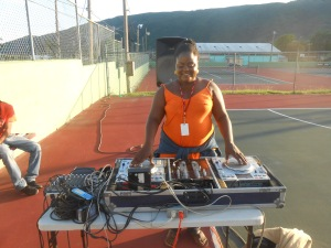 Me on the turntables