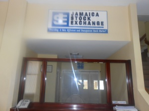 The Reception Area at the Jamaica Stock Exchange