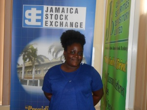 Me at the Jamaica Stock Exchange