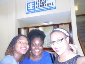 My Classmates and I at the Jamaica Stock Exchange
