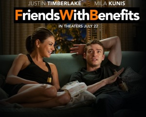 Mila Kunis and Justin Timberlake in the Movie Friends with Benefits